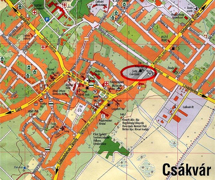 csákvár térkép Elérhetőség: Csuta Cukrászda 8083 Csákvár, Kossuth u. 20  csákvár térkép